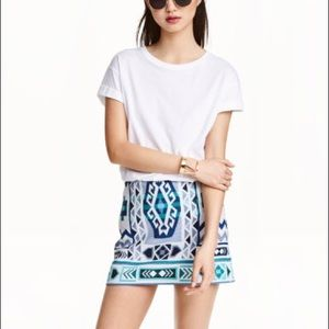H&M Aztec Print Mini Skirt